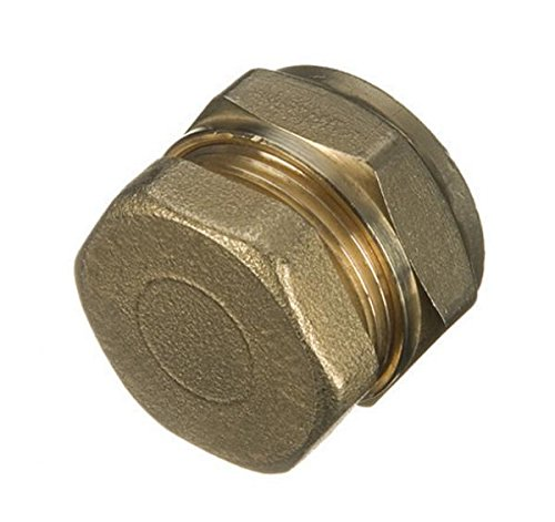 Primaflow 90001275 Compression Stop End 22 mm (Pack of 1), Brass ()