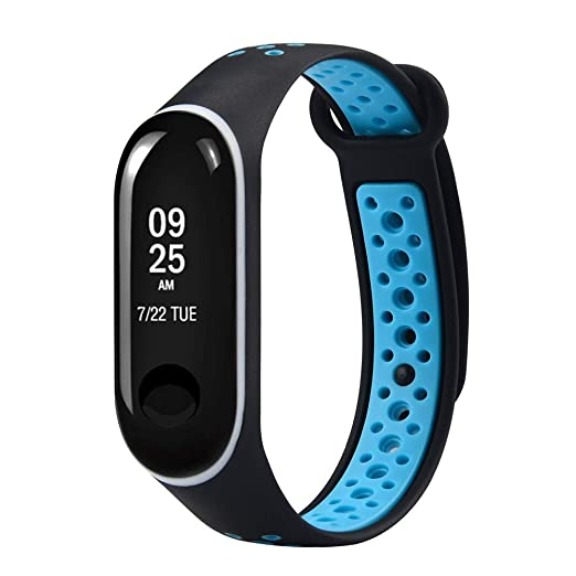 QuickZ Durable reemplazo de TPU Anti-Off Pulseras Deportivas Correas para Xiaomi mi Band 3: Amazon.es: Relojes