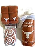 Texas Longhorns Baby Gift Set UT Burnt Orange Booties BPA Free Baby Bottle with UGA Koozie 2 Pacifiers Toxin-Free NCAA Licensed Infant Socks
