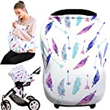 baby car seat cover - nursing covers breastfeeding cover carseat canopy (feather)