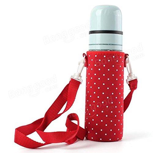 Moppi 500ml el transportista de la botella acuático aisló el bolso tapa del tirante de la bolsa impermeable