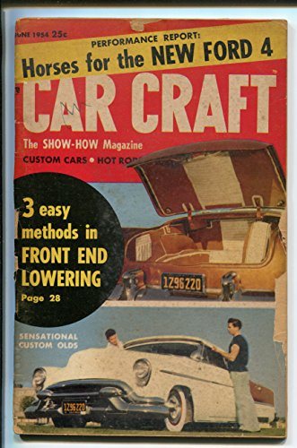 CAR CRAFT 06/1954-TREND INC-WALLY PARKS-CLASSIC CUSTOM CARS-good - Magazine Craft Trends