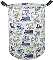 AYTG Canvas Large Clothes Basket Laundry Hamper with Handles,Waterproof Cotton Storage Organizer Perfect for K