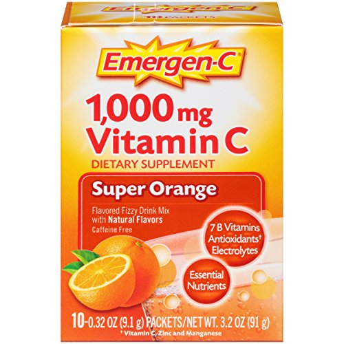 076314302970 - Emergen-C Dietary Supplement with 1000mg Vitamin C (Super Orange Flavor, 10-Count 0.32 oz. Packets) carousel main 5