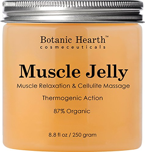 Botanic Hearth Muscle Jelly Hot Cream 8.8 fl. oz. - 100% Natural Cellulite Cream Treatment, Promotes Supple & Toned Skin, Sore Muscles, Muscle Relaxant & Pain Relief (Pain Control Cream)