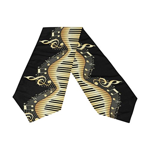 Naanle Double-Sided Piano Keyboard Music Note Polyester Table