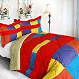 [Antique Young] Quilted Patchwork Down Alternative Comforter Set (King Size)