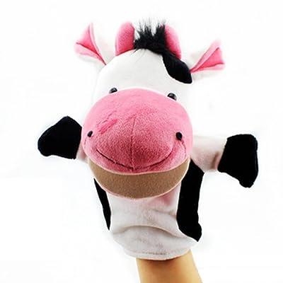 Isuper Marionetas de Mano,Peluche de Mano,Juquete Felpa de Mano de Dedo Diseã±o de Animal Lindo Peluche para Bebã©(Vaca): Juguetes y juegos