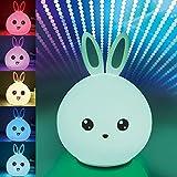 KathShop Creative Animal Model Energy Saving Rechargeable USB Lovely Rabbit Silicone LED Lamp Night Light Room Decoration