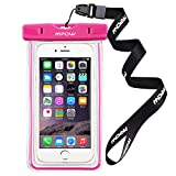 Waterproof Bag,Mpow Universal Water Proof, Dust Dirt Proof, Snowproof Pouch case for Apple iPhone 6s, 6 Plus, Samsung Galaxy S6 Edge-Pink