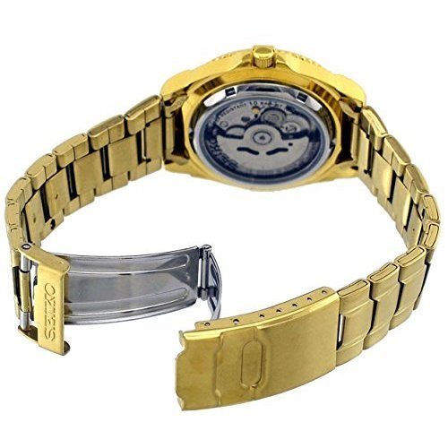Seiko 5 Sports #SNZB26J1 Men's Japan Gold Tone Stainless Steel 100M Automatic Dive Watc1 by Seiko Watches