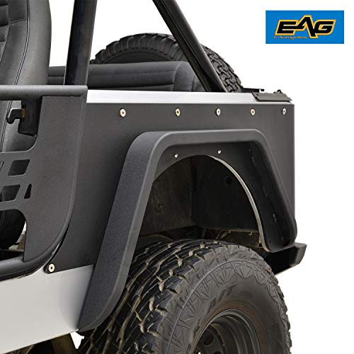 EAG Off Road Steel Rear Corner Guards Fit for 76-86 Jeep Wrangler CJ7