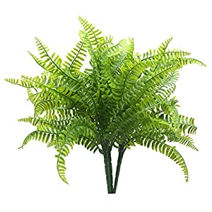Bird Fiy Boston Fern with Wicker Decorative Silk Plant Simulation Greenery Bushes Indoor Outside Home Garden Office Verandah Wedding Décor 2PCS 24