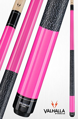 Viking Valhalla 2 Piece Pool Cue Stick with Irish Linen Wrap VA116 (20oz, Pink)