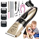 Professional Rechargeable Cat Dog Animal Hair Trimmer Electric Pet Hair Fur Remover Cutter Shaver Grooming Clipper Haircut Machine by Cola Dog