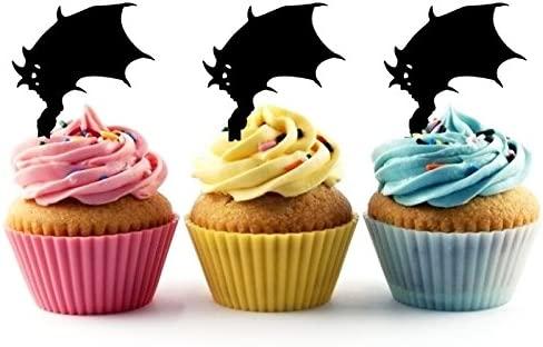Innovedesire Demon Wings Cupcake Cake Topper para tartas ...