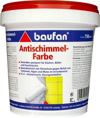 Baufan Antischimmelfarbe Anti-Schimmelfarbe 750ml
