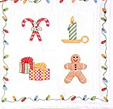 Stamped White Wall Or Lap Quilt 36''X36''-Christmas Window