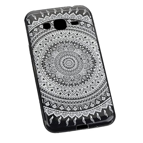 Ultra Slim Silikon TPU Handy Hülle - Transparent mit Indio Tattoo Design - für - Apple iPhone 7 4,7 Zoll - Case Cover