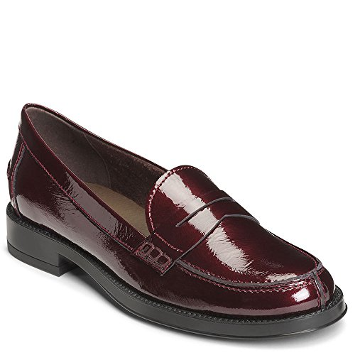 Patent Penny Loafer (Aerosoles Women's Push UPS Penny Loafer, Wine Patent, 7.5 M US)