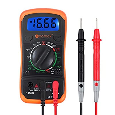 Neoteck Digital Multimeters Mini 1999 Count Digital Multimeter Tester Meter Multi Testers DMM DC AC Current Voltmeter Ohm Buzzer with Backlight LCD