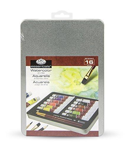 Royal & Langnickel Medium Tin Watercolor Painting Art Set