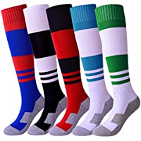 KALAKIDS Youth Soccer Socks Boys Girls 1/3/5/6 Pack Knee...