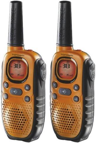 Topcom Walkie Talkie Mit 8 Kanäle Und Einer Reichweite Bis Zu 10 Km Mit Headset Und Display Rc 6404 Heimkino Tv Video