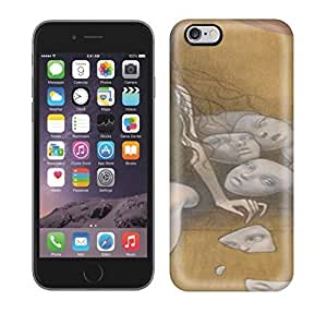 Best Power(Tm) HD Colorful Painted Watercolor A Sullen Girl Carry Mang Of Mask Hard Phone Case For Iphone 6 Plus