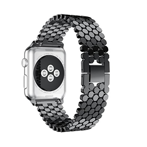 hp95tm-replacement-stainless-steel-bead-bandsfor-apple-watch-series-3-38mm-metal-watch-band-black