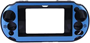 OSTENT Colorful Aluminum Metal Skin Protective Cover Case Compatible for Sony PS Vita PSV PCH-2000 - Color Light Blue