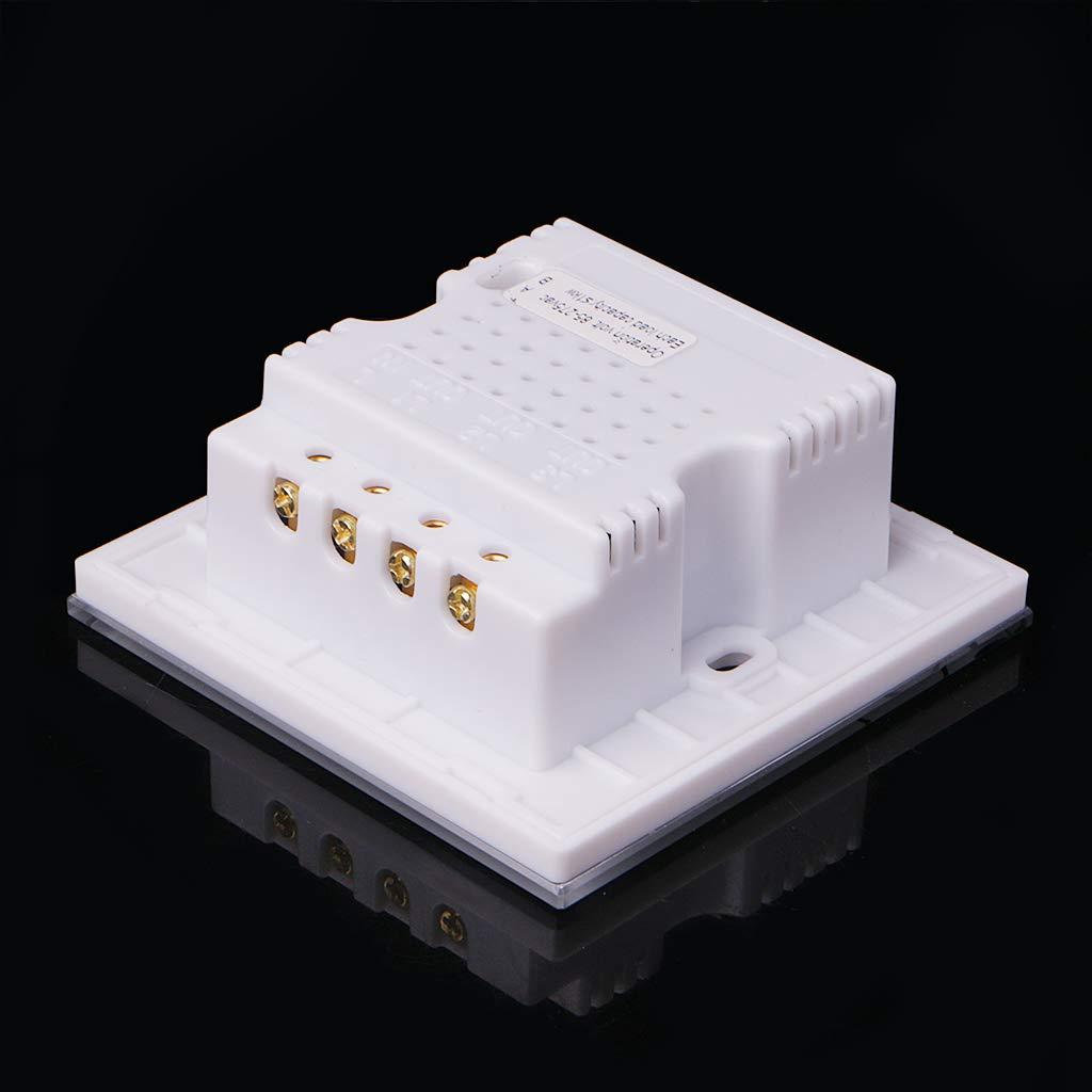 JOYKK Interruptor t/áctil de luz de Pared Smart Home Automation Panel de Vidrio multifunci/ón 86Type Blanco