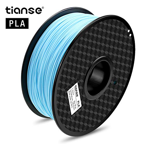 TIANSE Cerulean PLA 3D Printer Filament, 1 kg Spool, 1.75 mm, Dimensional Accuracy +/- 0.03 mm