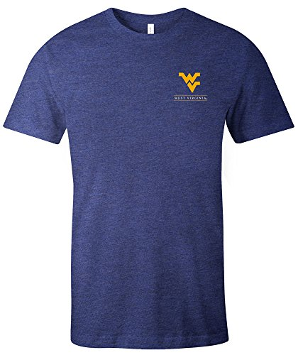 NCAA West Virginia Mountaineers Adult NCAA Simple Mascot Short sleeve Triblend T-Shirt,XL,Navy