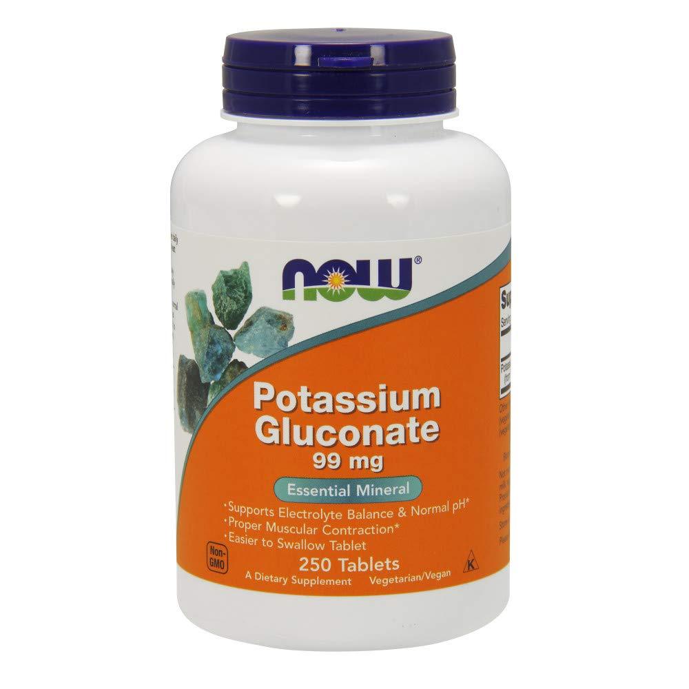 Now Supplements, Potassium Gluconate 99 mg, 250 Tablets