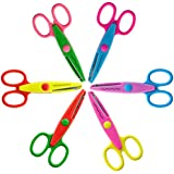 UCEC Kids Design Scissors, Scrapbooking Supplies, Paper Edging Scissors - Assorted Colors - Pack of 6