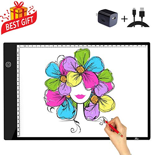 A4 Tracing Light Box Portable LED Light Table Tracer Board Dimmable Brightness Artcraft Light Pad for Artists Drawing 5D DIY Diamond Painting Sketching Tattoo Animation - Light Tracing Boxes