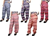 10pcs Yoga Trouser Baggy Genie Harem Striped Design Pants Boho Hippie Gypsy India Wholesale Lot (Multi-10)