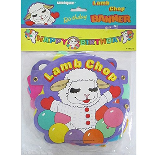 (Lamb Chop Vintage 1993 Happy Birthday Banner (1ct))