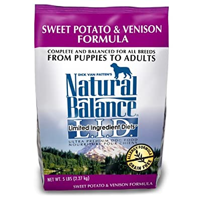 Natural Balance Sweet Potato And Venison Formula Dog Food, 5-Pound Bag