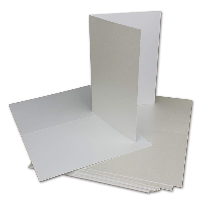30 Klapp-Karte Umschlag Set DIN A6/C6 Weiss matt glänzend - Karte A6 10,5 x 14,7 cm Umschlag C6 11,5 x 16 cm - Eine Karte-Ums