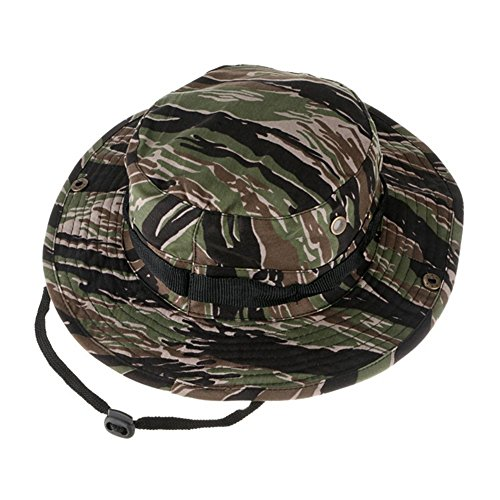 Oarea Camouflage Hunter Hat Sniper Hidden Jungle Sports Combat Caps Wide Brim Bucket Hat Camping