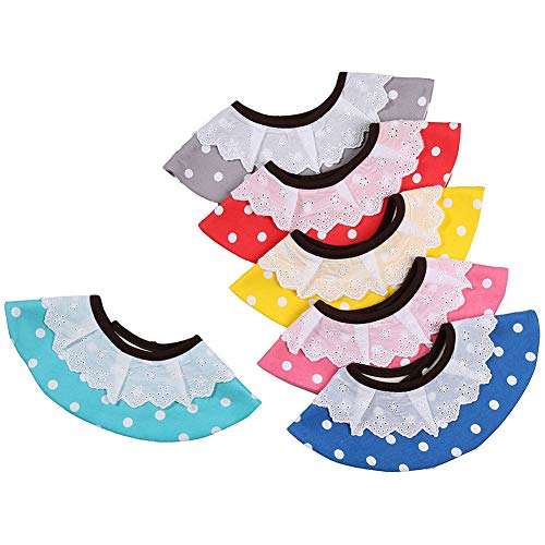 6 Pack Teething Bibs, Organic Cotton,Cute Pattern Soft & Absorbent by Yanwo ()