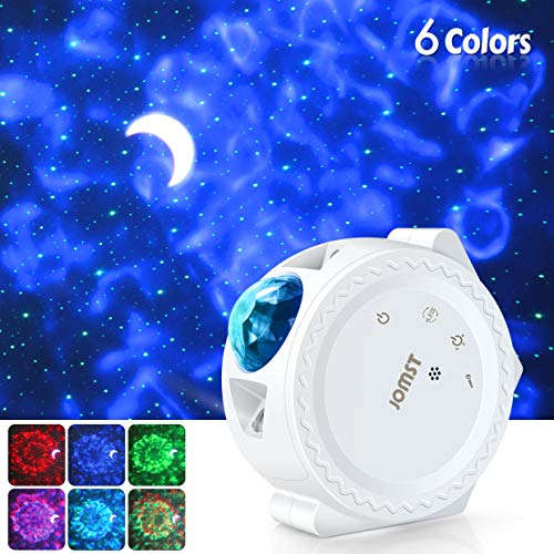 Jomst Star Projector,3 in 1 LED Moon and Star Lights,with Voice Control, 6 Lighting Effects,360-Degree Rotating Sky Laser Projector, Best for Children and Adults Bedroom and Party Decorations (White) (Childrens Bedroom Decorations)