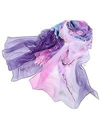 Women's Scarf, ABC Women Ladies Beautiful Chiffon Floral Scarf Long Soft Wrap Shawl