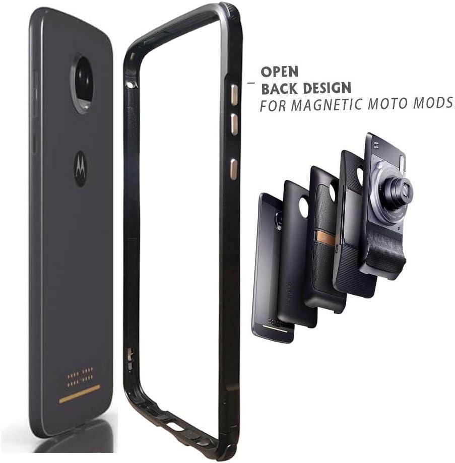 DNGN Moto Z2 Force Case, Bumper Frame Cover Compatible Moto Mods Aluminum Metal Slim Fit for Motorola Moto Z2 Force (Moto Z2 Force Bumper)