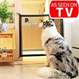Magic Gate for Dogs Pet Safety Enclosure Portable Folding Guard Safety Enclosure,Baby Safety Fence,Magic Gate As Seen On TV(W:39.4in H:29.5in) … For Sale