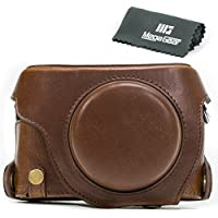 MegaGear Ever Ready Protective Leather Camera Case, Bag for Panasonic LUMIX LX100, DMC-LX100 Camera (Dark Brown)