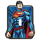 Superman Embossed Metal Switch Plate