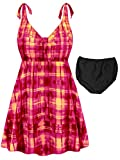 Sanctuarie Designs Pink Sunseeker Print 2-PC Straps Style Plus Size Swimdress2xT